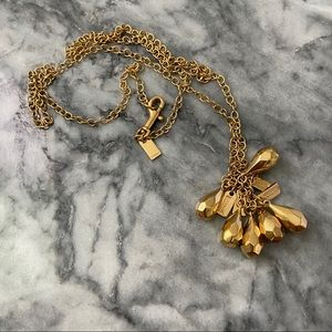 Coach Raindrops Gold Plated Necklace